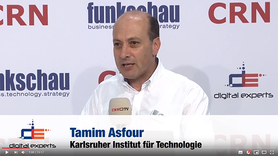 Innovation Talk CeBIT 2018: Tamim Asfour bei der Plattform Lernende Systeme (Video auf YouTube)